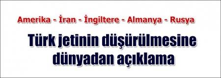 Türkiyə qırıcısının vurulmasına dünya dövlətlərinin reaksiyası