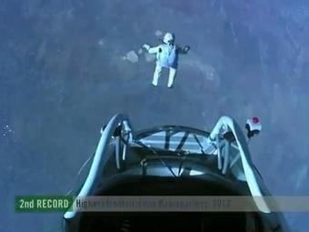 Avstriyalı  stratosferdən  38 km  yüksəklikdən tullandı