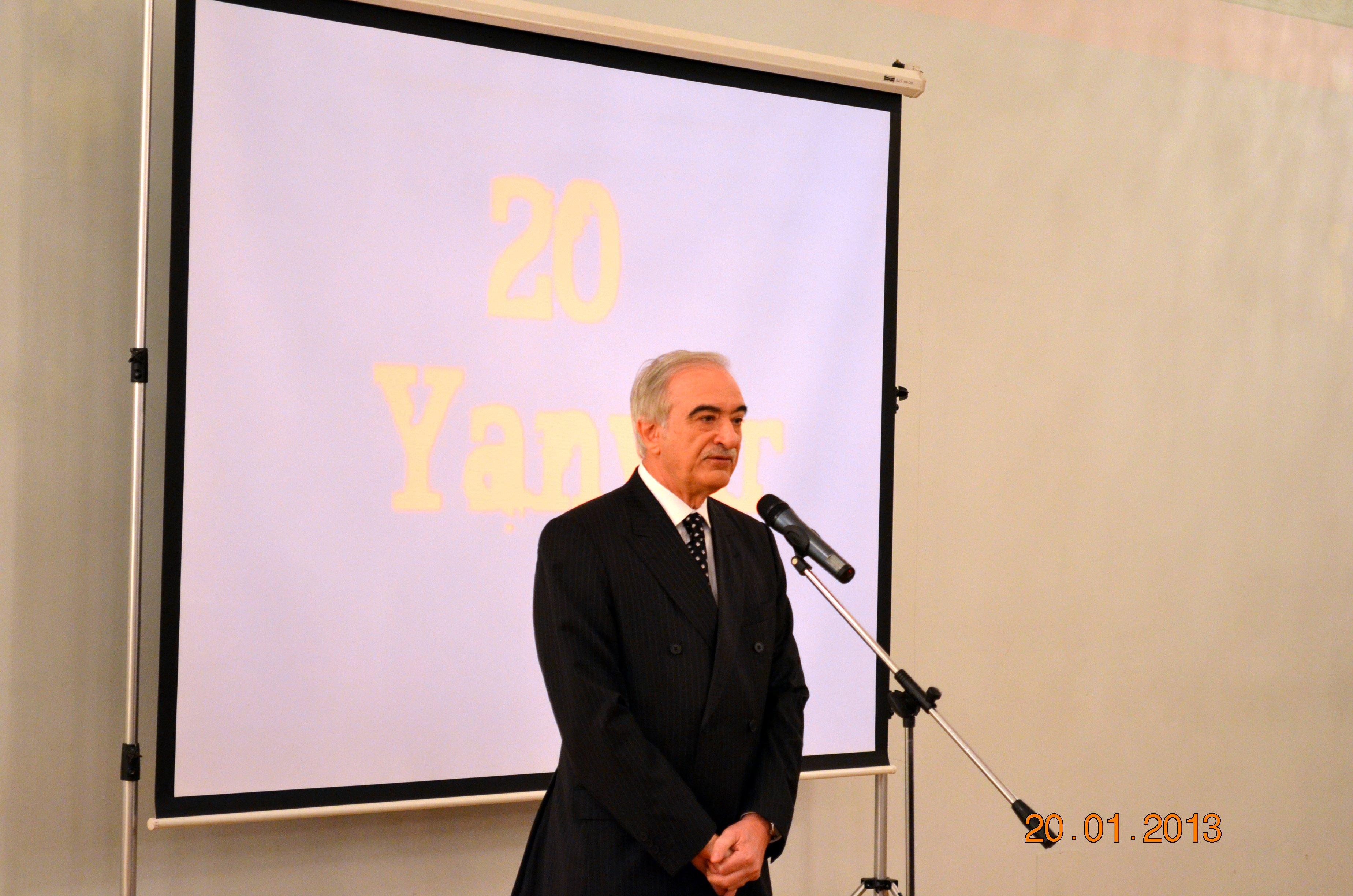 Moskvada Azərbaycan səfirliyində QANLI 20 YANVAR günü ilə bağlı tədbir keçirildi