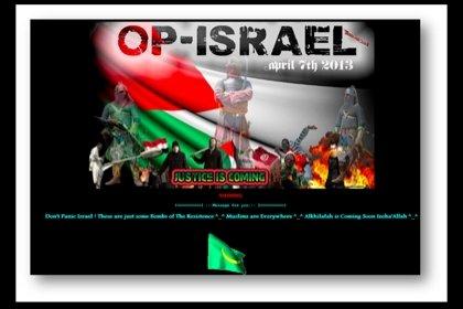 """""""Anonymous"""" haker hərəkatı  100 min İsrail saytını  dağıdıb"""