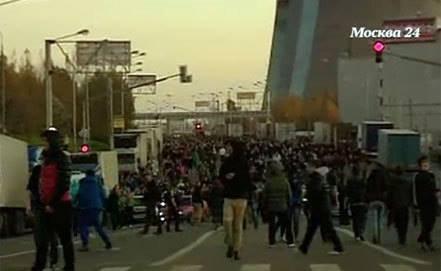 Moskvalılar  miqrantlara qarşı küçə savaşında