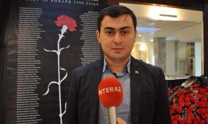 """Şamil Tağıyev: """"20 yanvar şəhidlərindən biz azad yaşamağı öyrənirik""""."""