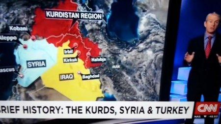 """CNN Türkiyənin bir bölgəsini  Kürdüstan  kimi göstərməsində """"xəta yox"""" dedi"""