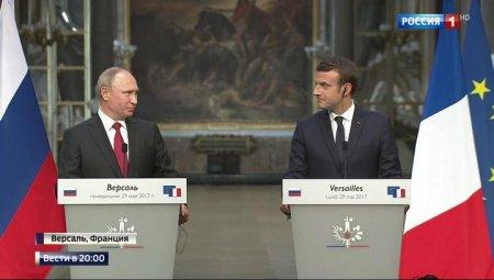 Putin Makronu bir neçə həftəliyə qonaq dəvət etdi