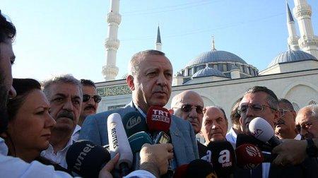 Erdoğan bayram namazı zamanı huşunu itirib