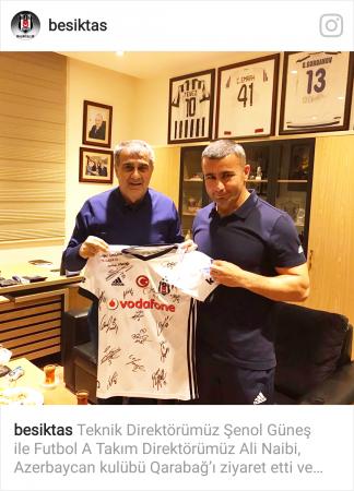 """Şenol Güneş """"Qarabağ"""" klubunu ziyarət etdi"""