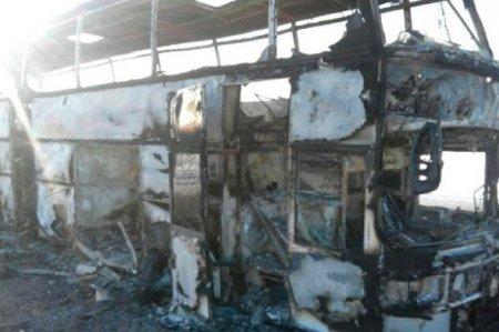 Qazaxıstandaт Rusiyaya gələn  avtobus yandı: 52 ölü FOTO-VIDEO