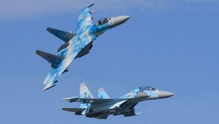 Ukraynada Su-27 təlim zamanı qəzaya uğrayıb