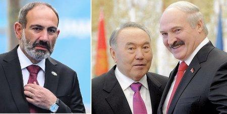 Paşinyan Lukaşenko və Nazarbayevdən izahat istəyir
