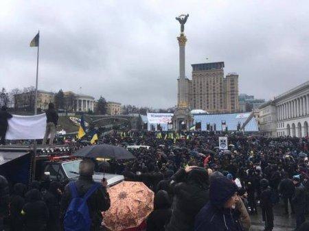 8 min ukrayna  millətçiləri yenə  meydana toplaşıb
