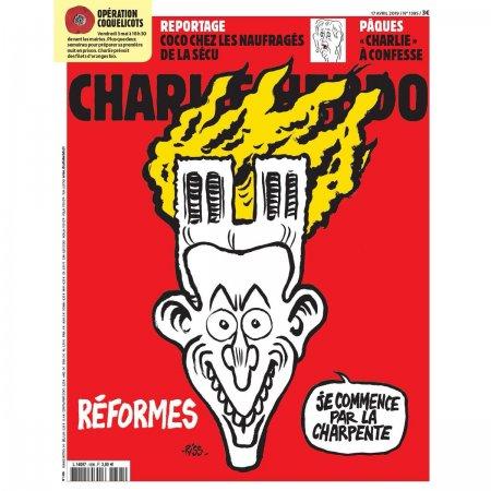 Charlie Hebdo Notr- Dam kilsəsindəki yanğınla bağlı karikatura dərc edib